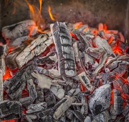 Close up of blazing fire.
