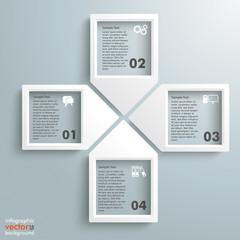 Paper Infographic Arrowframes Cross 4 Options