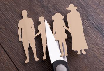 Family divorce concept