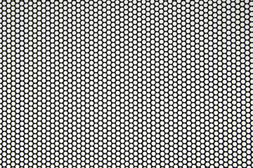 Black metal grid background pattern