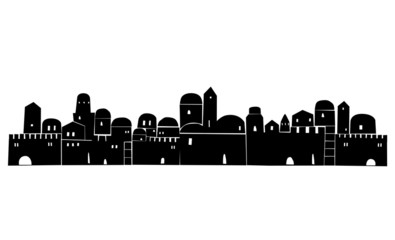 Middle East, Abstract Illustration, Old City