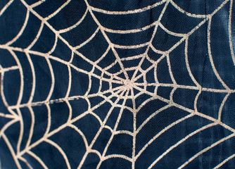 drawing on the fabric web for Halloween
