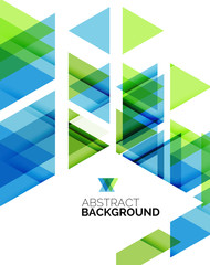 Triangle geometric abstract background