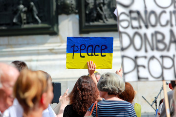 Protest manifestation against war in Ukraine