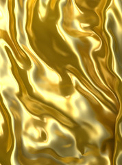 Gold cloth background or texture.