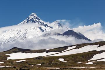 Volcanoes Kamchatka Peninsula: Kamen, Kliuchevskoi, Bezymianny