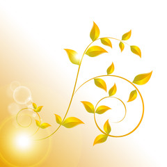 banner with yellow leaves