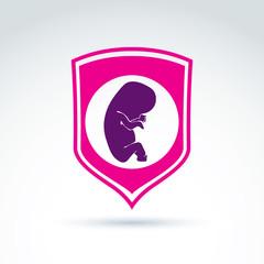 Pregnancy and abortion idea – save live theme. Conceptual illu