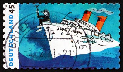 Postage stamp Germany 2010 Andrea Doria, by Udo Lindenberg