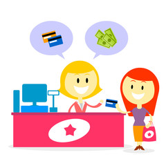 Pay with Cash or Credit Card