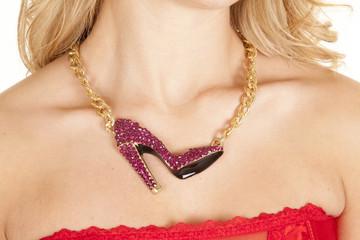 necklace shoes woman neck