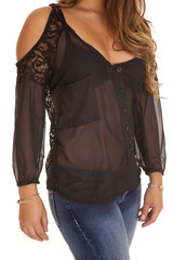 woman sheer see through top