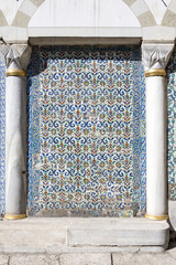 Tile wall in Harem of Topkapi Palace, Istanbul