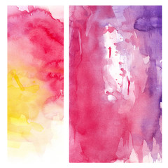 pink yellow watercolor background