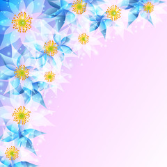 Festive background with abstract flowers