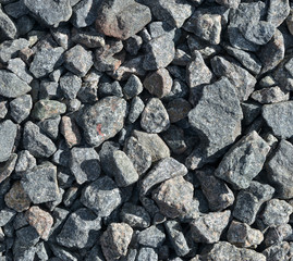 Texture of stone rubble, surface with a large number stones