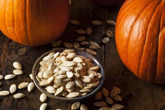 Roasted Salty Pumpkin Seeds