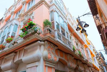 Cartagena modernist buildings in Murcia Spain