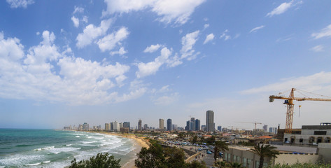 Panorama of Tel Aviv from old city Jaffa