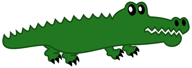 a simple crocodile