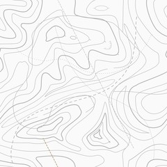 Seamless Light topographic topo contour map background