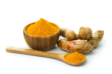 Canvas Prints Spices Turmeric and turmeric powder