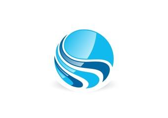 globe,water,sphere,wing,logo,wind,air,circle,wave,splash