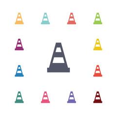 cone flat icons set.