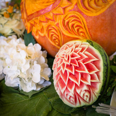 Wedding catering food, frutta decorata