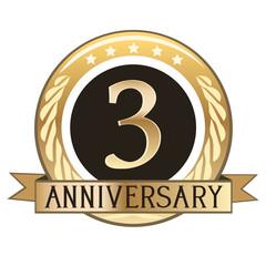 Three Year Anniversary Badge