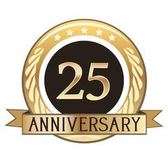 Twenty Five Year Anniversary Badge