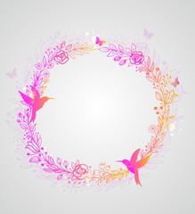 Decorative hand drawn wreath
