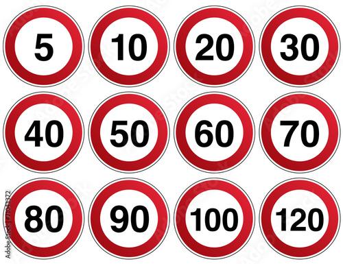 """""""Verkehrszeichen Geschwindigkeit Vorlage"""" Stockfotos und ..."""