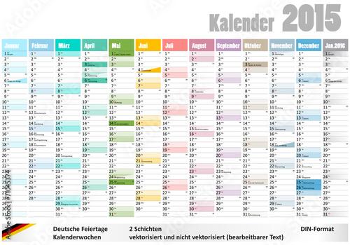 kalender 2015 deutsche feiertage kalenderwochen din. Black Bedroom Furniture Sets. Home Design Ideas
