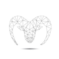 Abstract goat isolated on a white backgrounds, vector illustrati