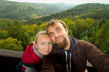 couple in Prague.