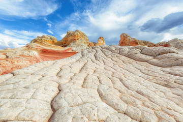 Mountains from colored sandstone, White Pocket,  Arizona, USA