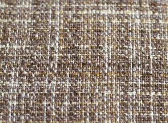 entwined brown yarn, sacking