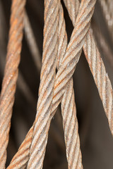 rusty metal cable