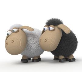 3d cheerful lambs