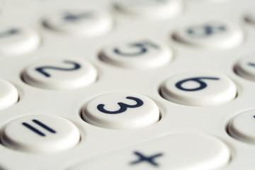 Closeup of calculator keypad