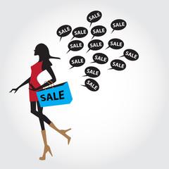 sales backdrop, vector