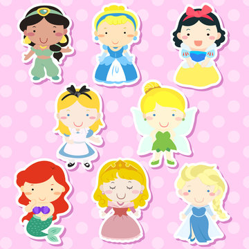 lovely fairy tale characters set