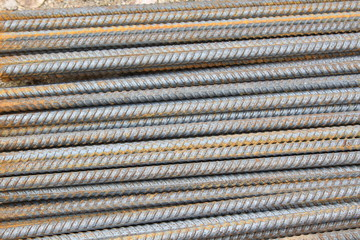 rusty grunge steel rods