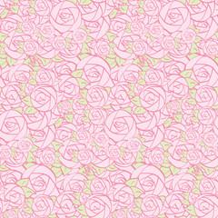 Seamless pattern of decorative flowers