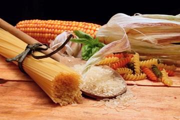 Pasta and corn