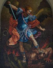 Wall Mural - Michael fighting evil