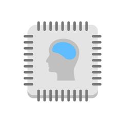 Artificial intelligence icon vector illustration