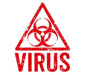 Roter Stempel - Virus