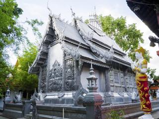 Silver monastery in Wat srisuphan